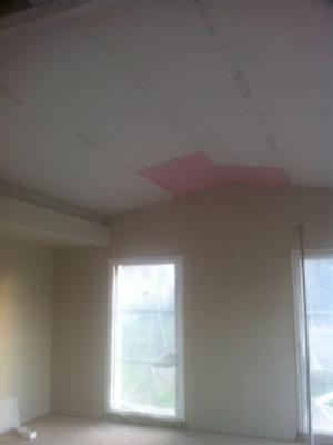 Pose d'un faux plafond