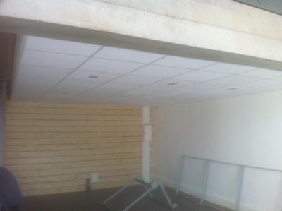 Pose d'un faux plafond à Clisson